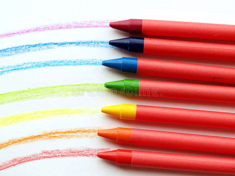 Download Wax rainbow stock photo. Image of blue, craft, color, write - 4196112