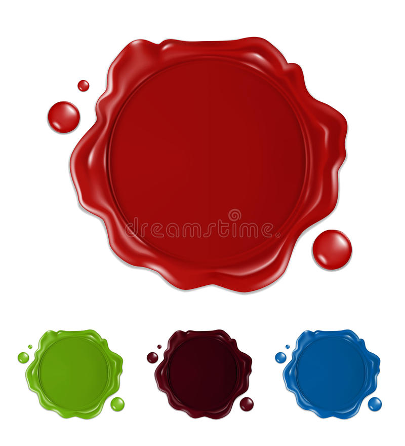 Download Wax seal stock vector. Illustration of symbol, security - 13265854