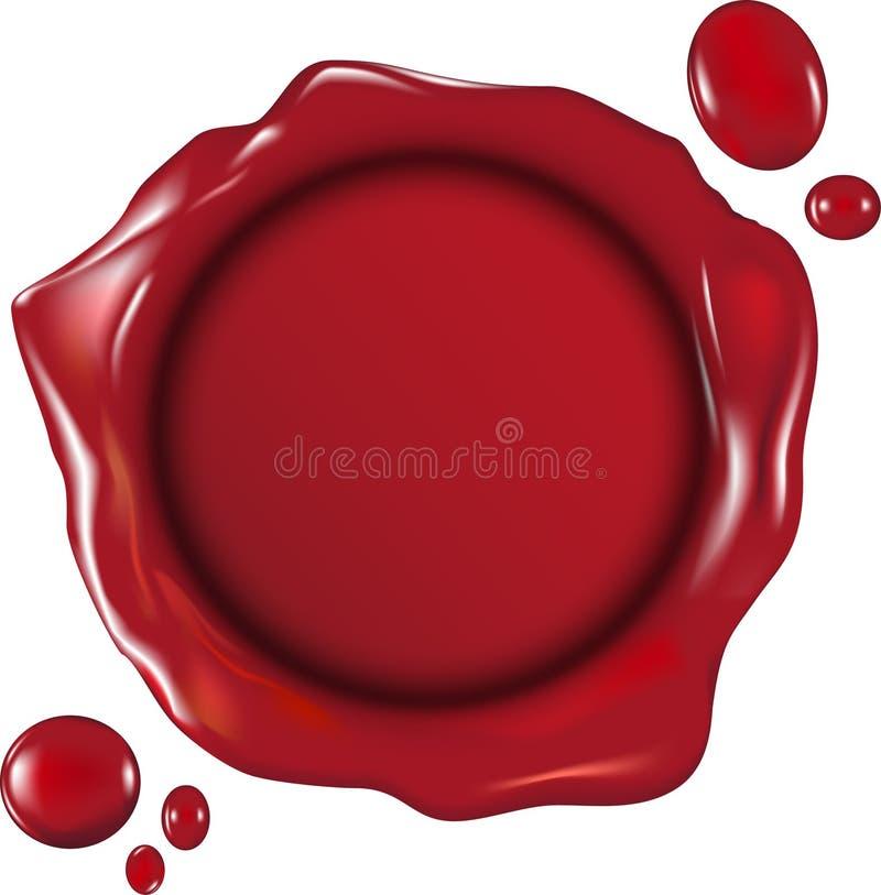 Wax seal. Illustration of a wax seal stock illustration