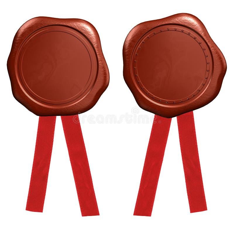 Download Wax seal stock illustration. Image of royal, insignia - 22704865