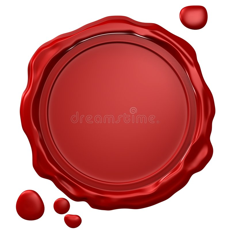 Wax Seal royalty free stock photography