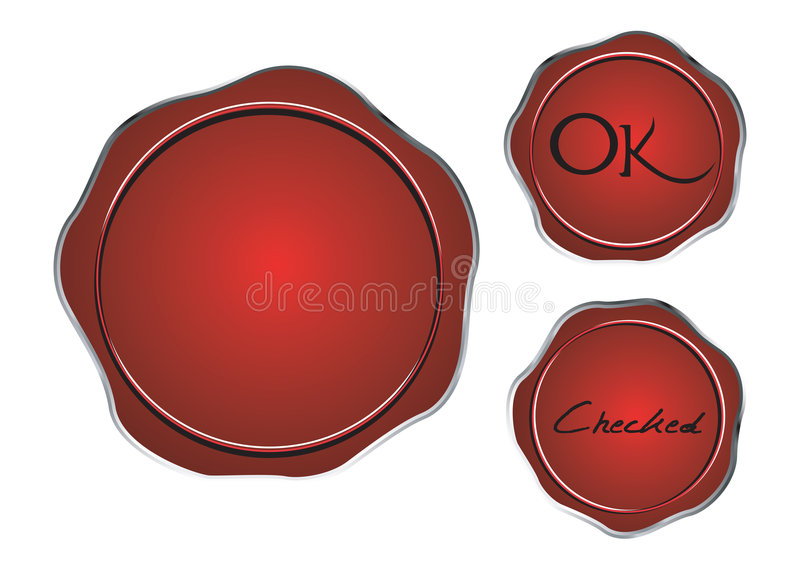 Download Wax seal stock illustration. Image of realistic, droplet - 7075432