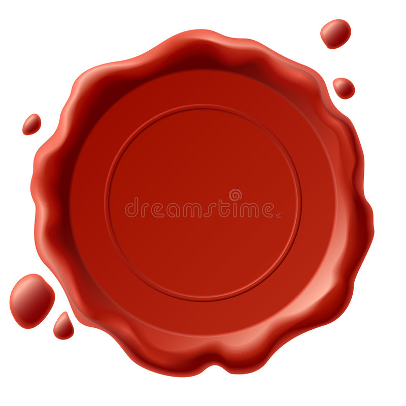 Wax seal vector illustration