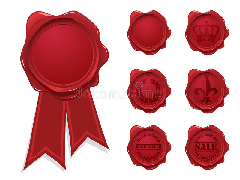 Download Wax seal collection stock vector. Illustration of first - 12799193