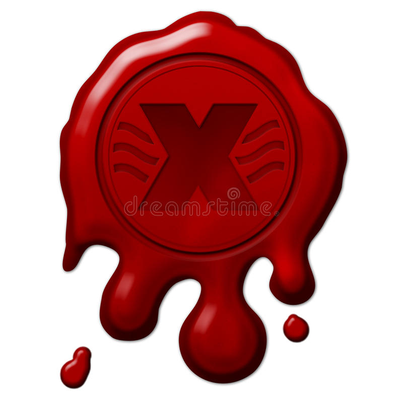 Download Wax Seal Declined stock illustration. Image of brown - 23594085