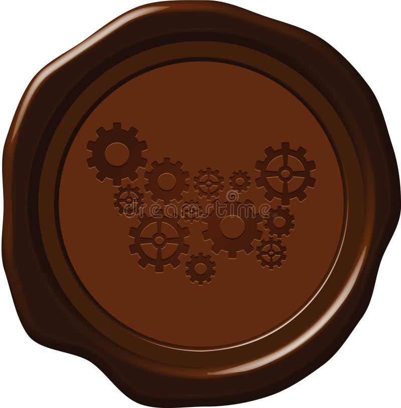 Wax seal with gears