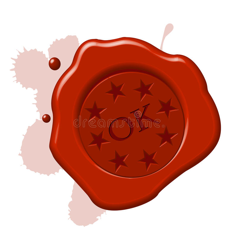 Download Wax seal ok stock vector. Image of opportunity, communication - 17535955