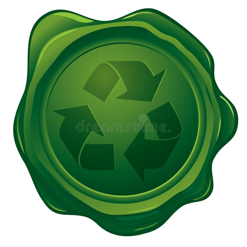 Download Wax Seal With Recycled Stamp Stock Vector - Image: 7759033