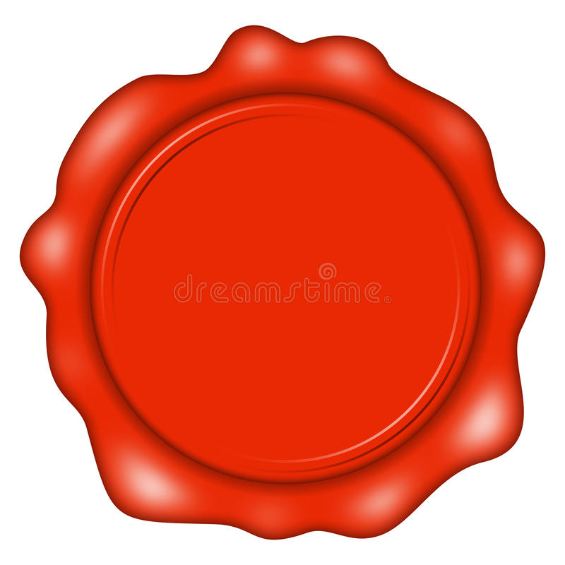 Wax seal. Red empty wax seal royalty free illustration