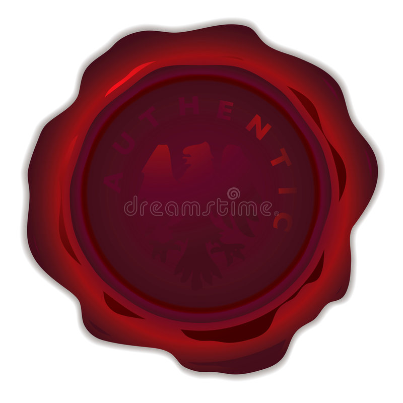 Download Wax seal round dark stock vector. Image of icon, antique - 7893475