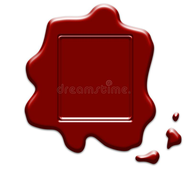 Wax seal stamp on white royalty free stock photo