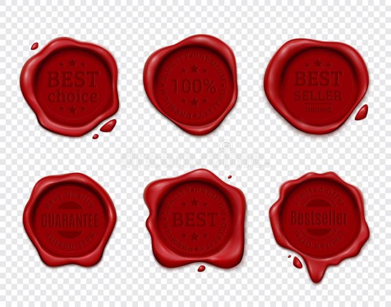 Wax Seal Transparent Set royalty free illustration