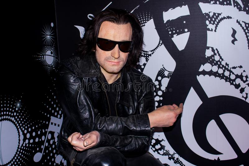 Bono, wax figure royalty free stock image