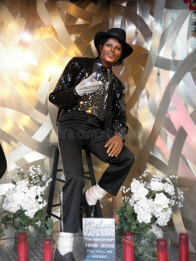 Wax Statue Of Michael Jackson royalty free stock photo
