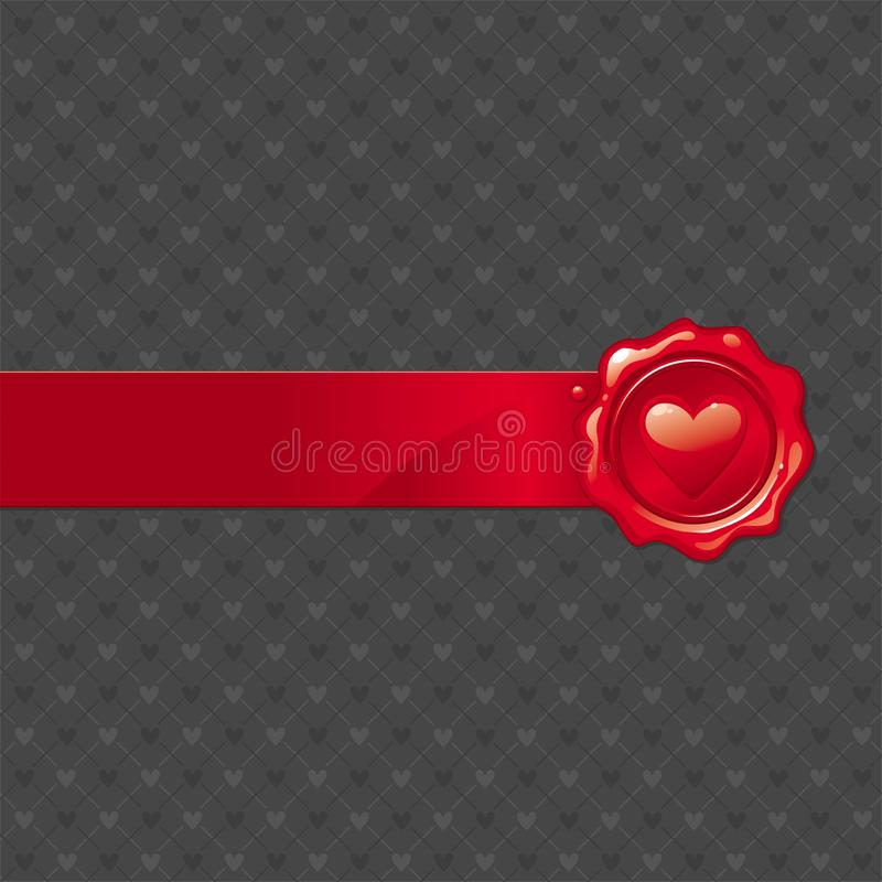 Free Wax Valentine Seal Royalty Free Stock Images - 17835599