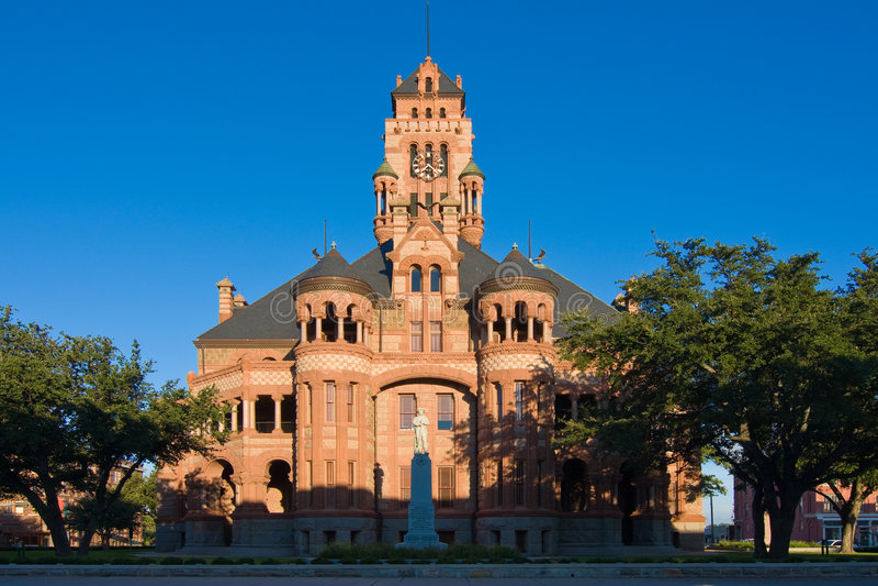 waxahachie texas здания суда стоковое фото rf