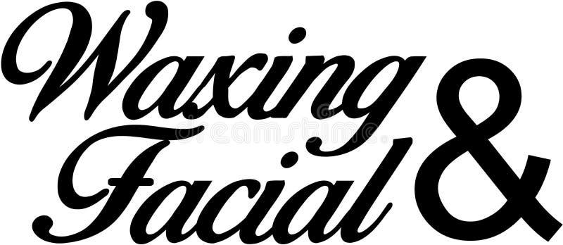 Waxing and Facial. Eyebrow Threading microblanding long lashes vector illustration