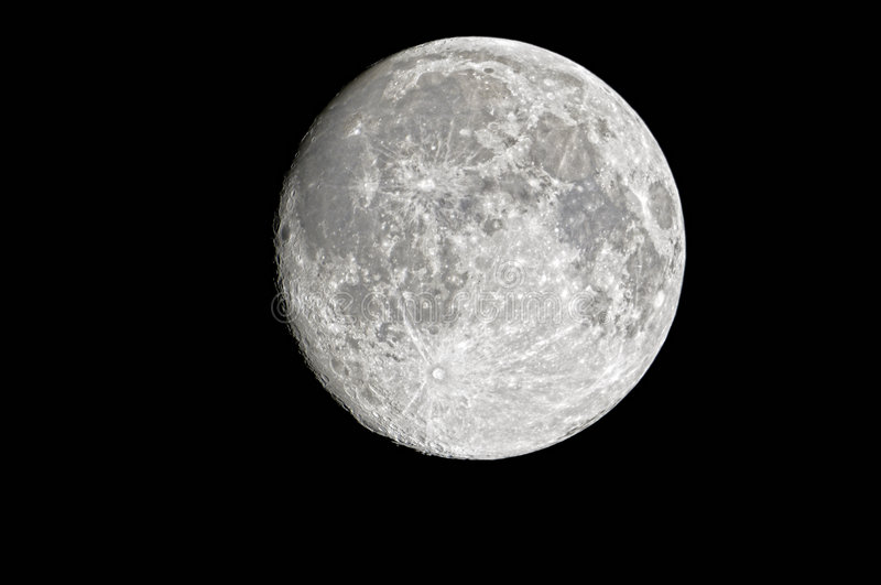 Waxing Gibbous Moon royalty free stock image