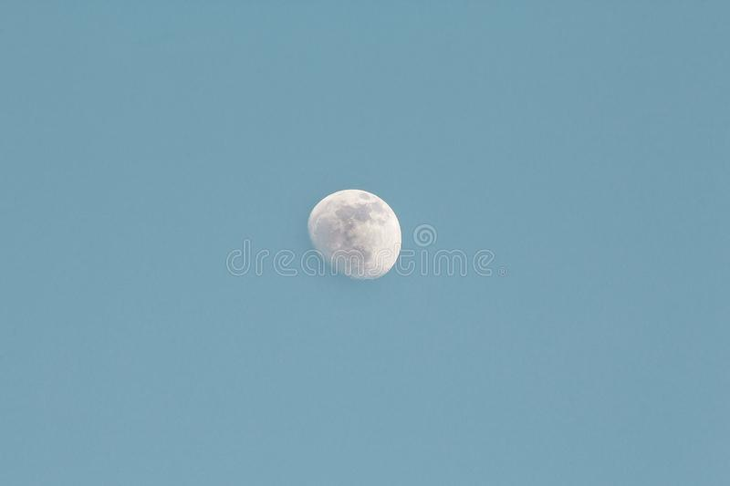 Waxing Gibbous Moon in Daytime royalty free stock photo