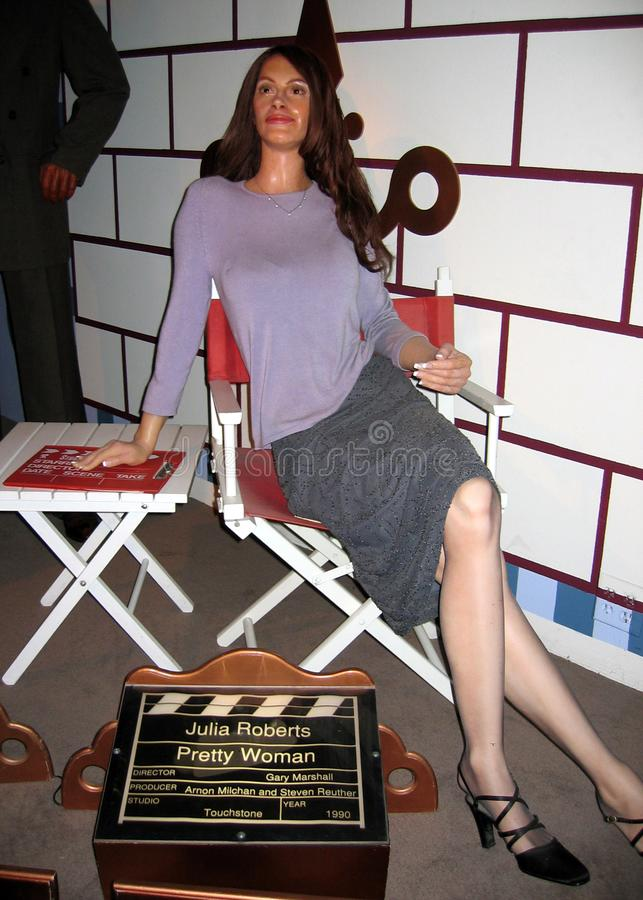 Waxwork av Julia Roberts som nätt kvinna royaltyfri bild