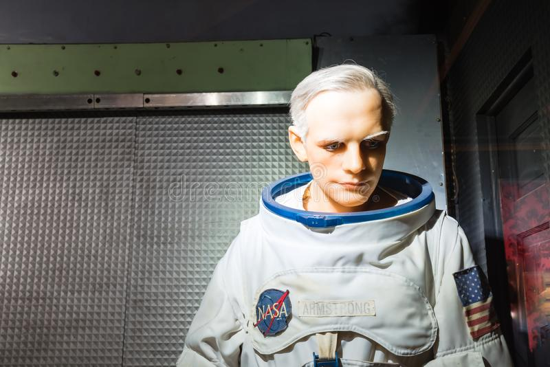 A waxwork of Neil Alden Armstrong display at Josephine Tussaud stock photo