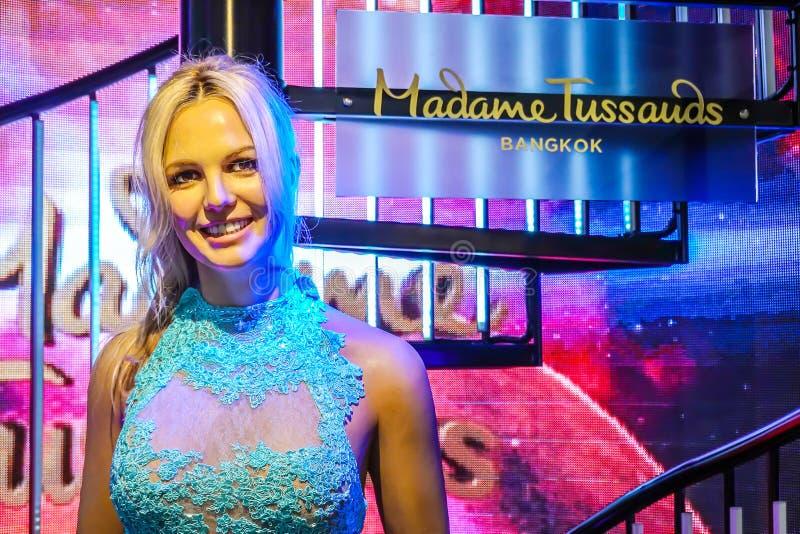 Waxwork van Britney Spears op vertoning bij Mevrouw Tussauds op 21 Oktober, 2018 in Bangkok, Thailand stock fotografie