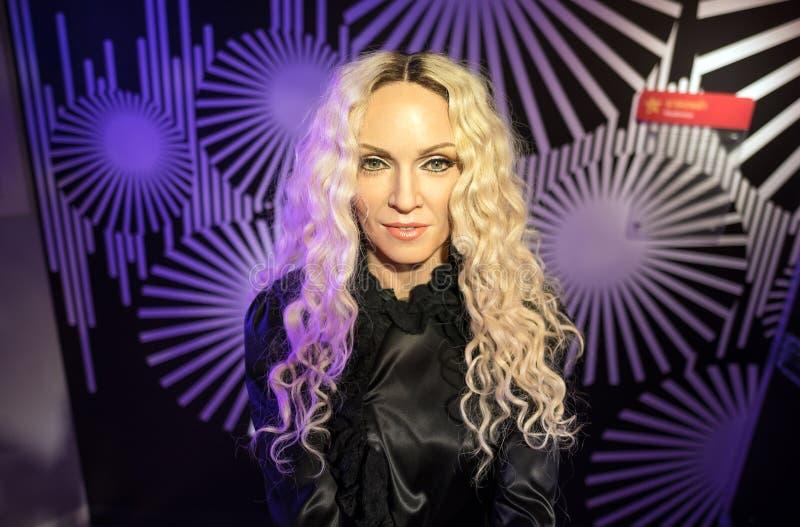 Waxwork van Madonna op vertoning royalty-vrije stock afbeeldingen
