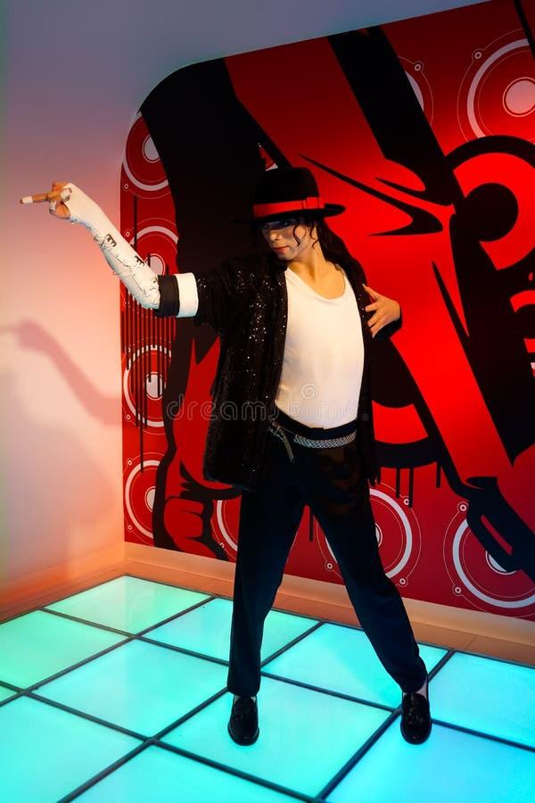 Waxwork van Michael Jackson bij Mevrouw Tussauds-wasmuseum royalty-vrije stock fotografie