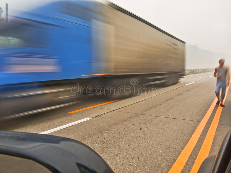 Download On the way stock image. Image of highway, markings, delivery - 15672825
