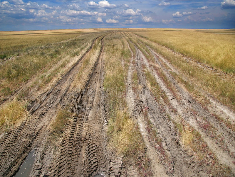 Download Way stock photo. Image of yellow, tracks, blue, rally - 7072858