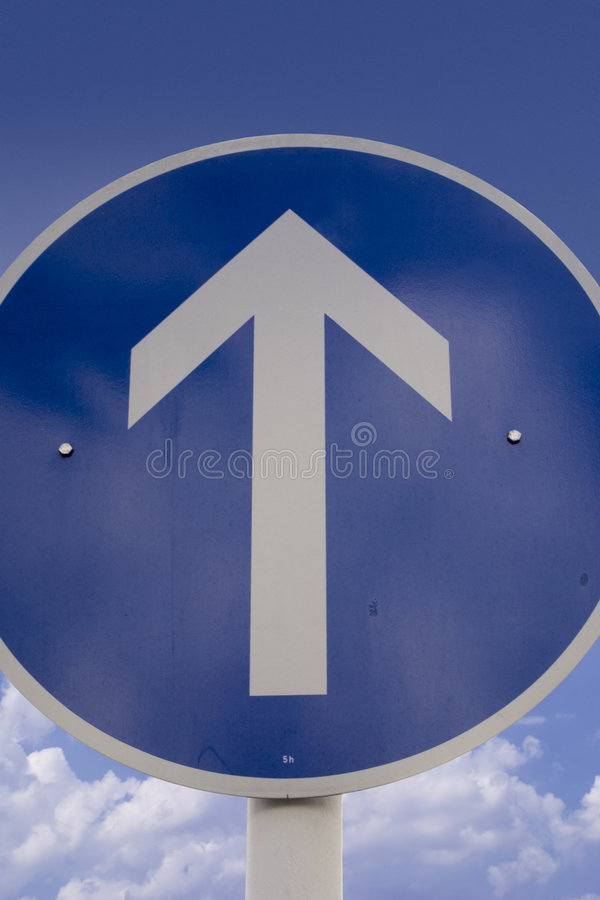 This way ahead sign royalty free stock image