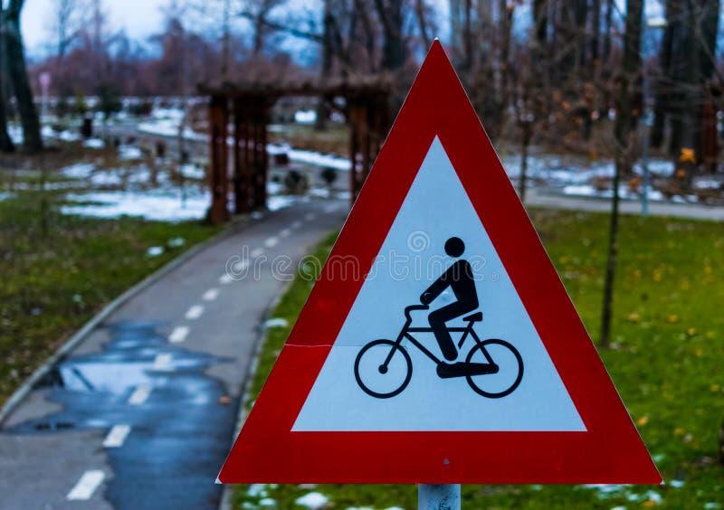 Bicycle park stock photo