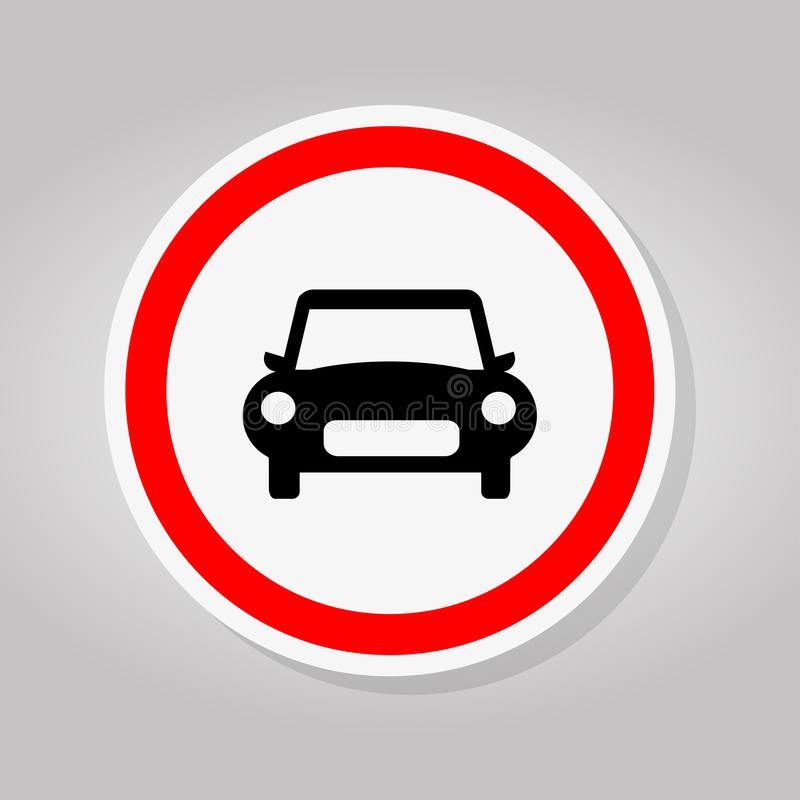 Way Of Car Traffic Road Sign Isolate On White Background,Vector Illustration stock illustration