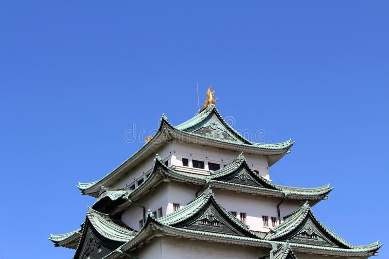 Way closer to Nagoya Castle, the icon of this city and Chubu. Way closer to Nagoya Castle, the icon of the city and Chubu Region. Taken in Nagoya - Japan royalty free stock photo