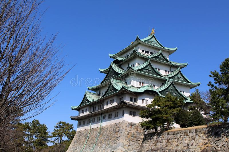 Way closer to Nagoya Castle, the icon of this city and Chubu. Way closer to Nagoya Castle, the icon of the city and Chubu Region. Taken in Nagoya - Japan royalty free stock photos