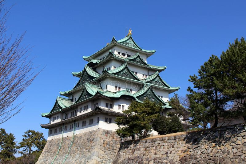 Way closer to Nagoya Castle, the icon of this city and Chubu. Way closer to Nagoya Castle, the icon of the city and Chubu Region. Taken in Nagoya - Japan stock images