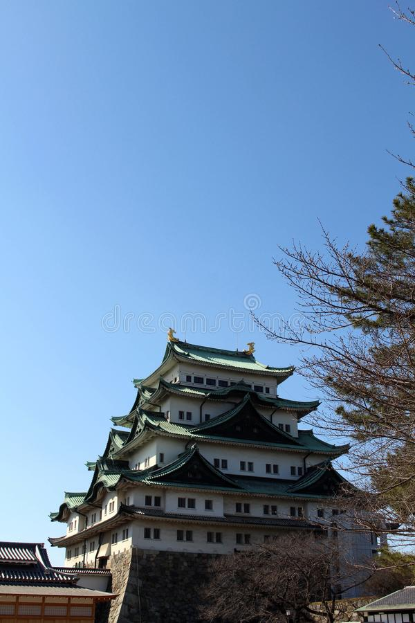 Way closer to Nagoya Castle, the icon of this city and Chubu. Way closer to Nagoya Castle, the icon of the city and Chubu Region. Taken in Nagoya - Japan stock image