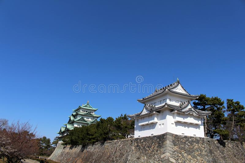 Way closer to Nagoya Castle, the icon of this city and Chubu. Way closer to Nagoya Castle, the icon of the city and Chubu Region. Taken in Nagoya - Japan royalty free stock image