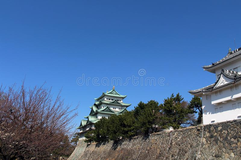 Way closer to Nagoya Castle, the icon of this city and Chubu. Way closer to Nagoya Castle, the icon of the city and Chubu Region. Taken in Nagoya - Japan stock photography