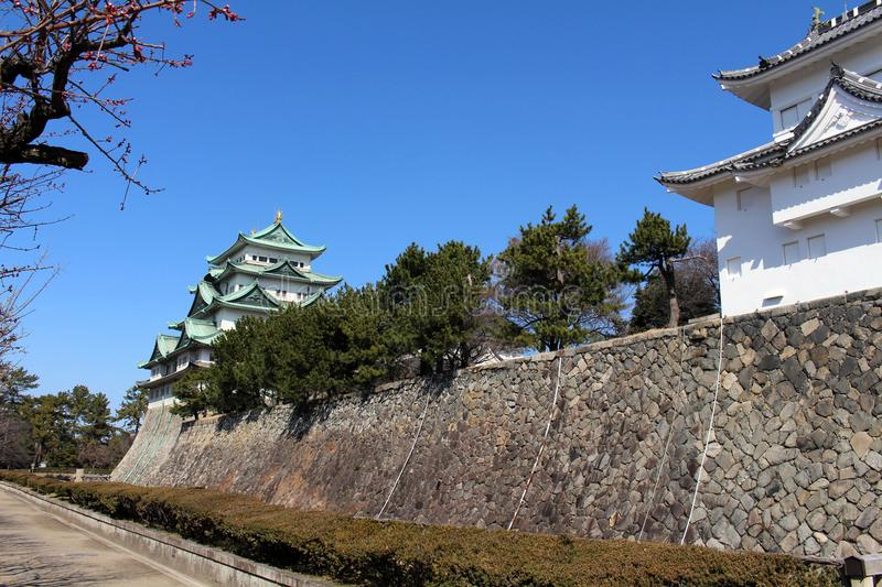 Way closer to Nagoya Castle, the icon of this city and Chubu. Way closer to Nagoya Castle, the icon of the city and Chubu Region. Taken in Nagoya - Japan stock photos