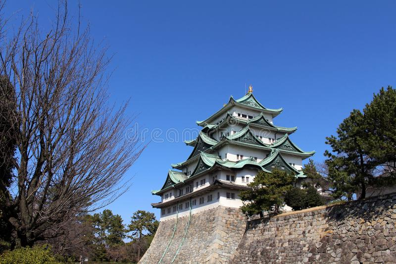 Way closer to Nagoya Castle, the icon of this city and Chubu. Way closer to Nagoya Castle, the icon of the city and Chubu Region. Taken in Nagoya - Japan royalty free stock photography