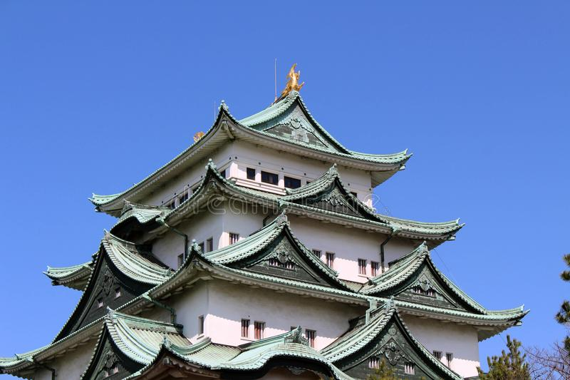 Way closer to Nagoya Castle, the icon of this city and Chubu. Way closer to Nagoya Castle, the icon of the city and Chubu Region. Taken in Nagoya - Japan stock photo