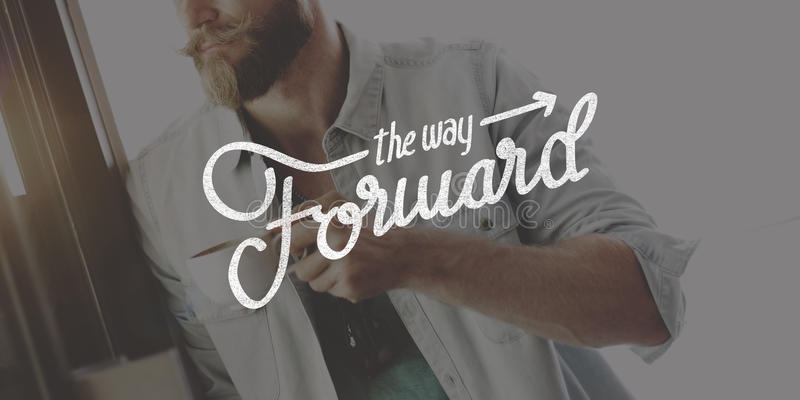 The Way Forward Aspirations Goals Target Development Concept royalty free stock photography