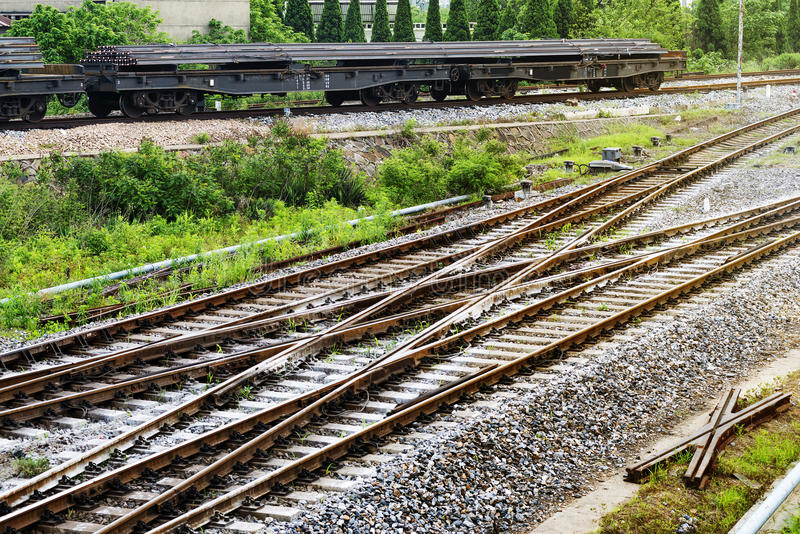 The way forward railway. In China stock photo