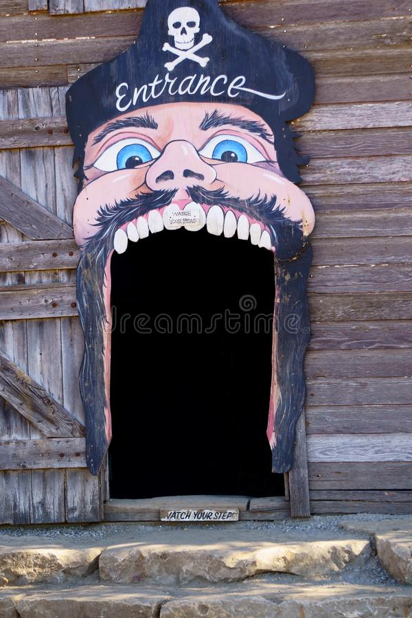Scary Barn entrance royalty free stock images