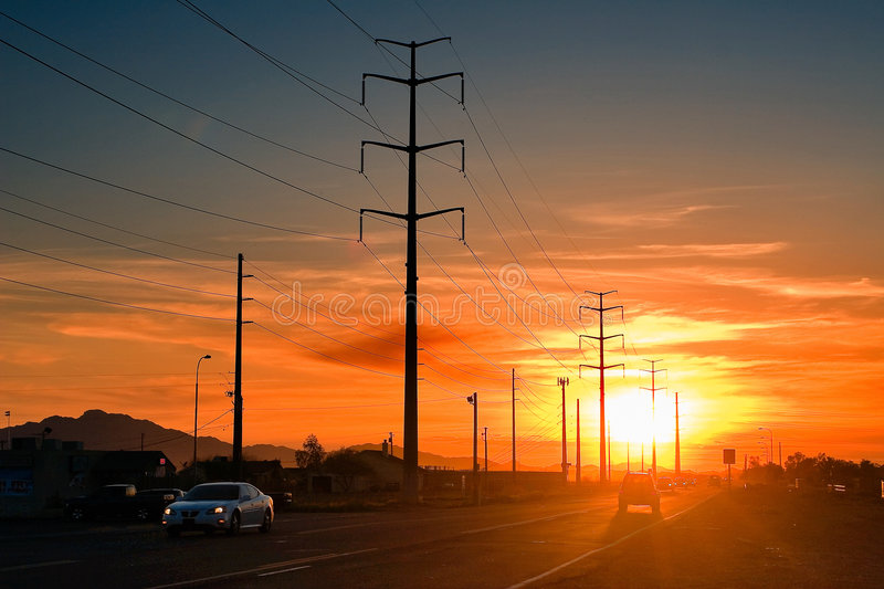 Download On The Way Home stock photo. Image of home, highway, sunset - 8555448