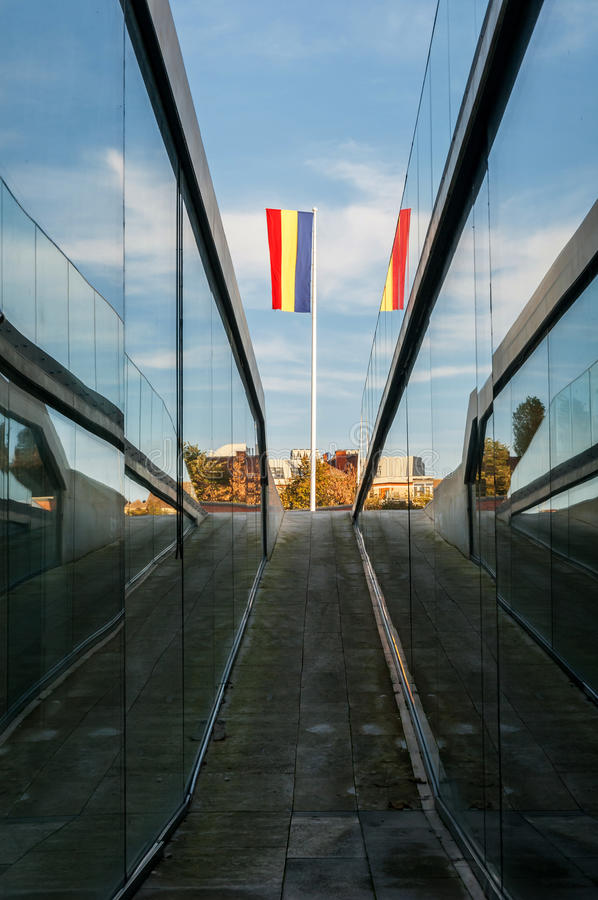 Way Leading To Romanian Flag Stock Images