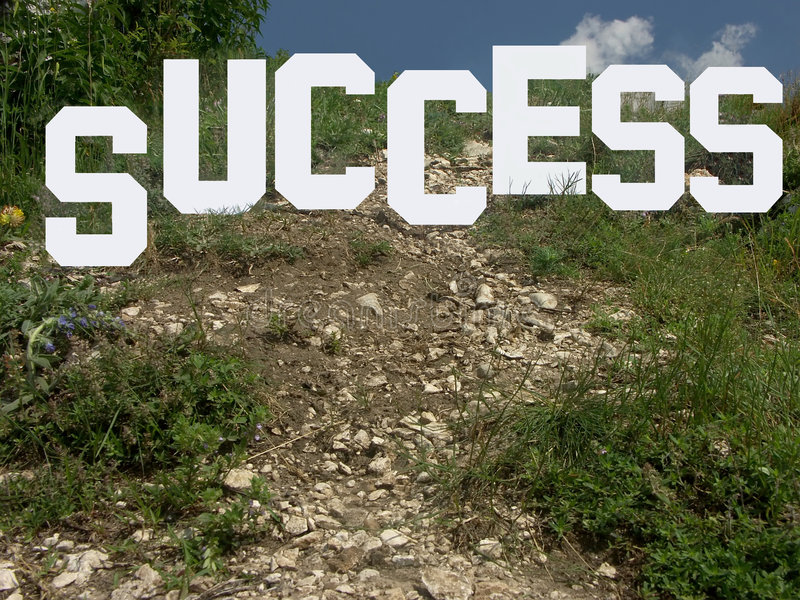 Download The way leading to success stock image. Image of lead, goal - 156843