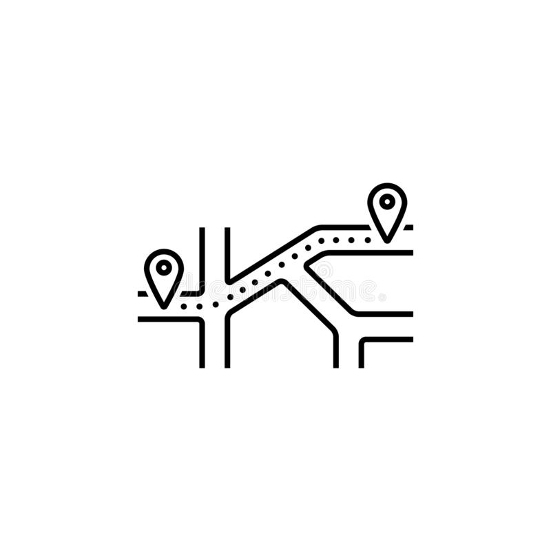 Way, location, direction icon. Element of Web Navigation icon for mobile concept and web apps. Detailed Way, location, direction stock illustration