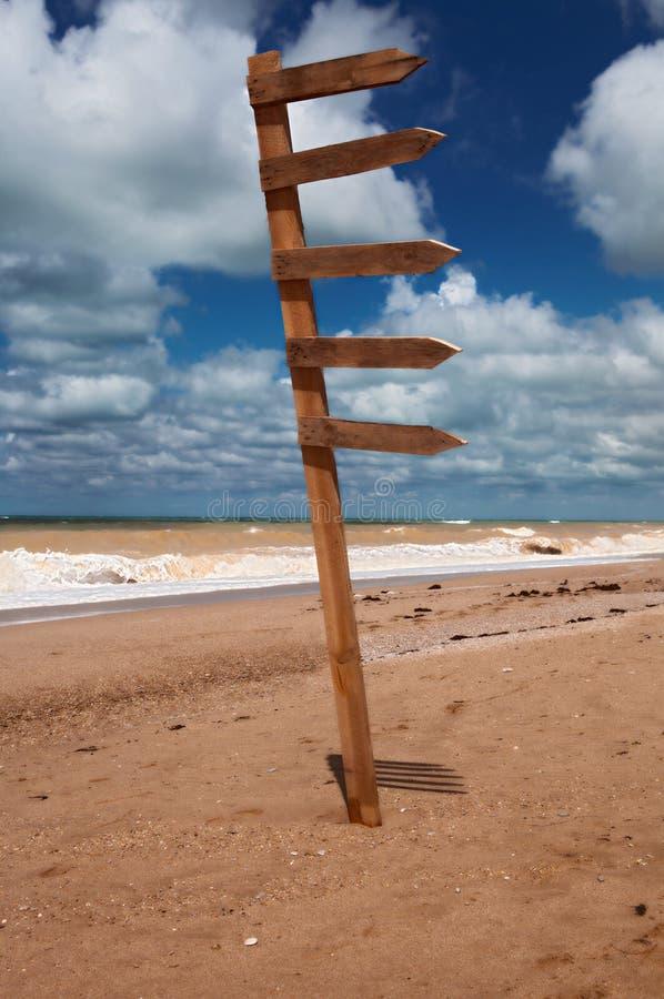 Way mark on the beach
